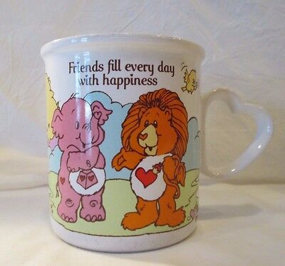 Vintage Care Bears Cousins Friends Lion Elephant Fill Every Day Happiness Mug
