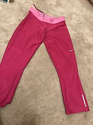 Ladies Size Small (size 10) Nike Dri Fit Gym / exercise / Running Leggings Pink