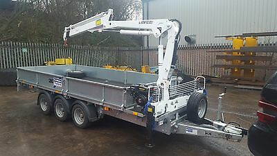 New Ifor Williams Trailer fitted with 2-3 t/m Crane / Hiab