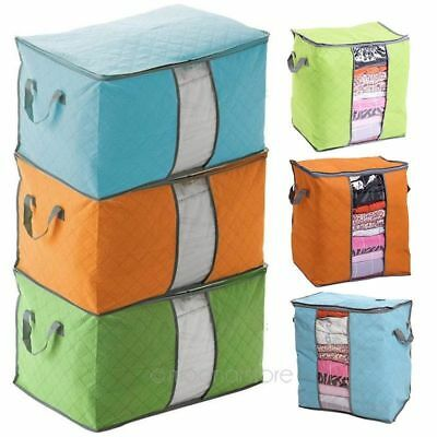 Foldable Home Closet Storage Bag Organizer Box Anti-bacterial Clothes Quilt AA