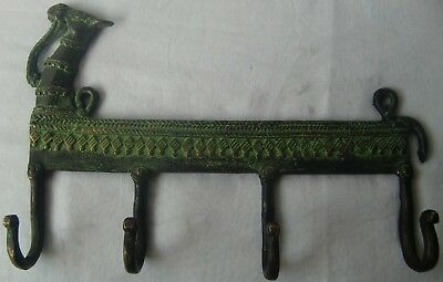 Vintage Decorative Wall Hanging Hooks Coat Hanger Camel Face Brass Metal Statue