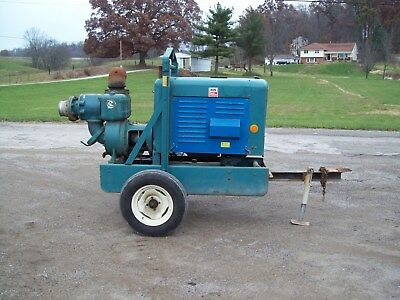 "6"" Portable Marlow Water / Trash Pump, Ford 6 Cyl Gas Engine"