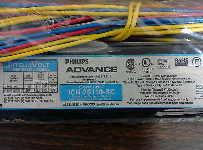 NEW HO Fluorescent Ballast Advance ICN2S110-SC Operates 1-2 Lamp 4'-8' 120/277V
