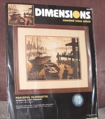 Dimensions--PEACEFUL SILHOUETTE--Counted Cross Stitch Kit-New in Package