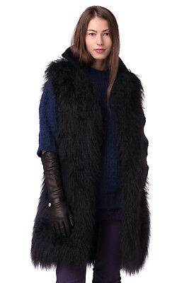RRP €1440 ERMANNO SCERVINO Size 42 S M Wool Blend Faux Fur Gilet Made in Italy