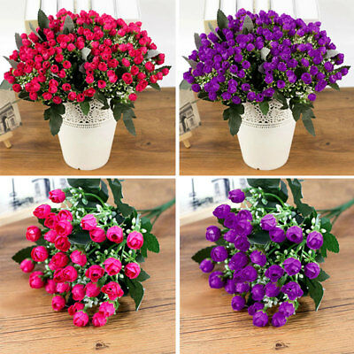 1 Bouquet 36-heads Roses Artificial Fake Flowers For Wedding Bridal Home