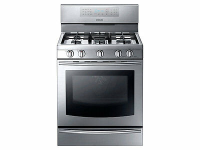 "Samsung NX58F5700WS 30"" Freestanding Gas Range True Convection Stainless NEW"