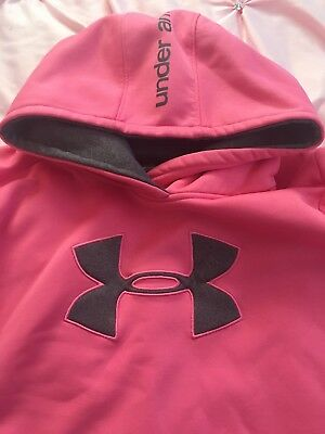 Under Armour LOOSE Pullover Hoodie Sweatshirt YOUTH GIRLS SIZE LARGE YLG