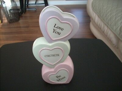 Lenox:  Valentine Candy Hearts Vase Flowers Be MIne Love OXOXOX Pink