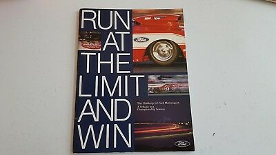 Run at the Limit and Win    Ford Pro Stock  Bob Glidden