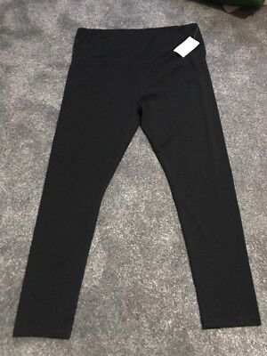 M & S Mum Maternity Trousers Size 20 Black Stretch New With Tags