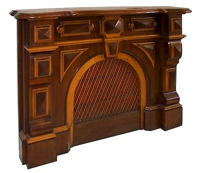 Victorian Walunt Fireplace Mantel with Architectural Details #7281