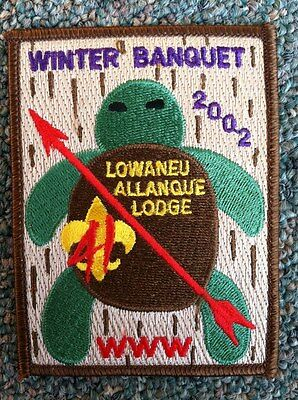 Lowaneu Allanque Lodge 41 2002 Winter Banquet pocket patch