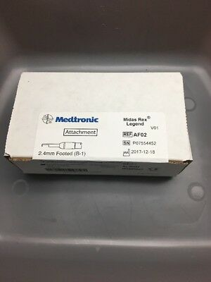 BRAND NEW & Sealed Medtronic Midas Rex 2.4mm B1/AF02 Footed