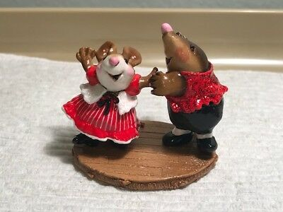 Wee Forest Folk M-? Girl and Mole Valentine's Dance