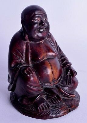 late 19th / early 20th century chinese carved hardwood statue buddha qing