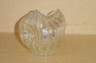 Elegant Gold Iridescent Art Deco Pinched Rose Bowl Granite Dugan 1902