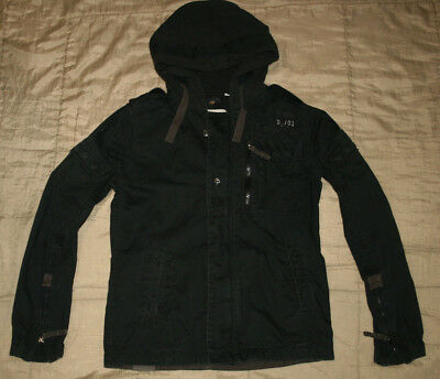 G-STAR RAW MENS  hooded  MILITARY STYLE FIELD JACKET size L