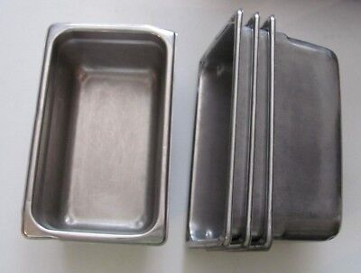Set of 4 Vollrath 30442 Super Pan II Stainless Steel 1/4 Size Steam Table Pans