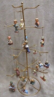 Vtg Hummel Ornaments With Tree Asst. 12 Angels1996 & 10 Children1997 All Listed