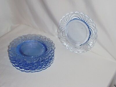 Blue Caprice Bread And Butter Plates Lot Of 8