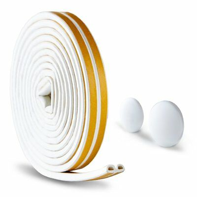 D Type Self-adhesive Rubber Weatherstrip Seal & 2Pc Door Knob Wall Shield Round