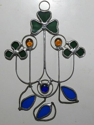 Cloverleaf Stained Glass Light Catcher Window Hanging
