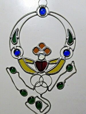 Irish Claddagh Stained Glass Light Catcher Window Hanging