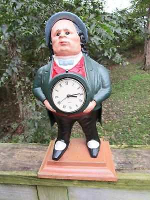 Cast iron metal John Bull figurine figural statue antique man clock art nouveau
