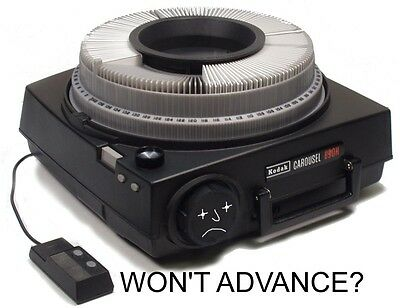 "Kodak Carousel Projector ""ADVANCE"" MAIL-IN Repair Service Diagnosis"