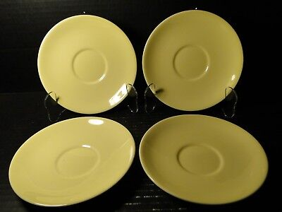 """FOUR Taylor Smith Taylor Luray Pastels Yellow Saucers 6"""" Set of 4 EXCELLENT"""