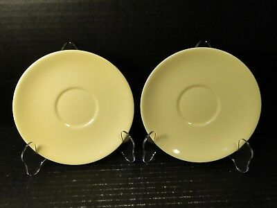 """TWO Taylor Smith Taylor Luray Pastels Yellow Saucers 6"""" Set of 2 EXCELLENT"""