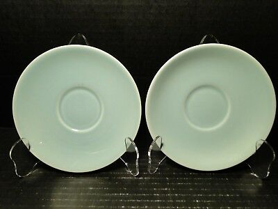 """TWO Taylor Smith Taylor Luray Pastels Green Saucers 6"""" Set of 2 EXCELLENT"""