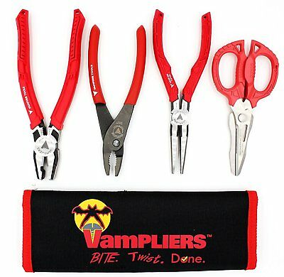 VamPLIERS World's Best Pliers! 4-PC Set S4CP Specialty Screw Extraction Pliers