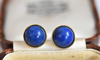 Exquisite Pair of 18ct gold lapis lazuli Ancient Roman inspired stud earrings