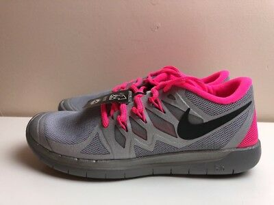 Reflect Silver Black Hyper Pink 685712 001 New Nike Youth Free 5 0 Flash Gs Washhounds Com