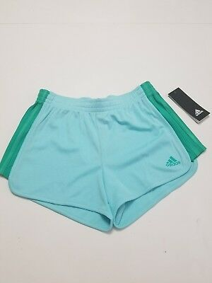 Adidas Girl PE Short Girl Training Blue/Green Medium (10-12) NWT