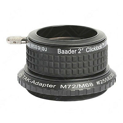 "Baader 2"" Clicklock Clamp for Takahashi Refractor & Cassegrain w/ M72 Thread"