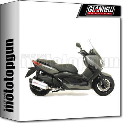 Giannelli Kit Exhaust Maxi Oval Carbon Cup Yamaha X-Max Xmax 400 2013 13 2014 14