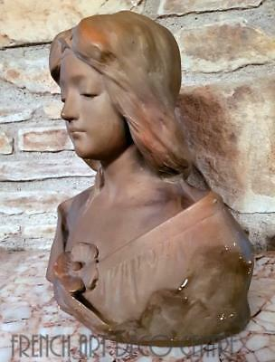 Affortunato GORY French Art Nouveau Terracotta Bust 1900