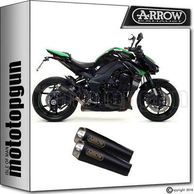 Arrow 2 Silencer Pro-Race Black Kawasaki Z 1000 2017 17