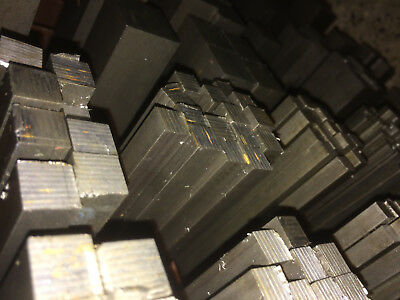 Bright Mild Steel Square Bar Rod - 6 8 10 12 16 20 25 30 35 40mm - 1 Meter Long