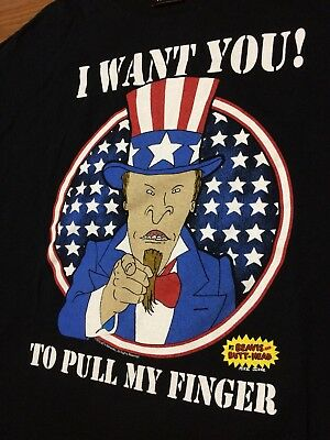 Beavis And Butthead T Shirt Mens Xl Pull My Finger American Parody 90s