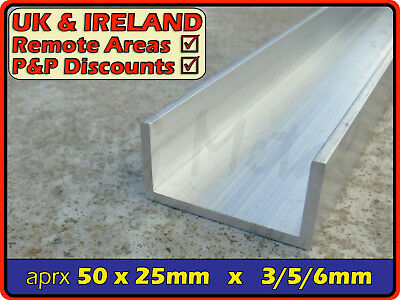 "Aluminium Channel (C U section, gutter, profile,edging,alloy) | 2"" x 1"""