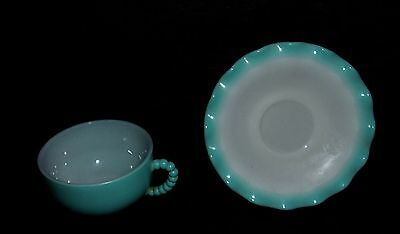 Beautiful Vintage Cup & Saucer Marked Capital Letter H & A