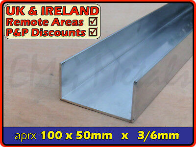 "Aluminium Channel (C U section, gutter, profile,ramp,alloy) | 4"" x 2"""