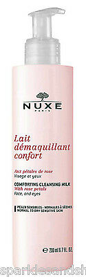 Nuxe Comforting Cleansing Milk With Rose Petals 200ml Lait Demaquillant Confort