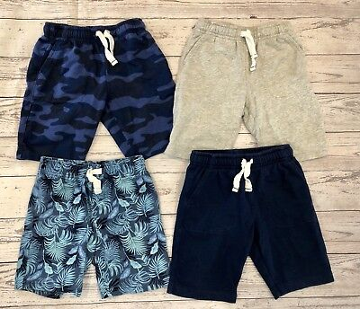 Toddler Boys Lot of 4 Pairs of Pull On Carter's Brand Cotton Shorts Size 5T-VGUC