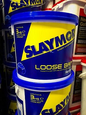 Slaymor Rat & Mouse Poison 3Kg made by Rentokil+ FREE GLOVES+FREE 100g POISON!!!