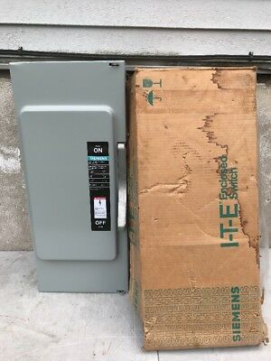 SIEMENS JU324 BU 200A 240V 3 Pole Type 1 Enclosed  No Fuse Switch